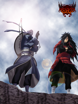 Tobi and Madara -Colored- by FrederickNB