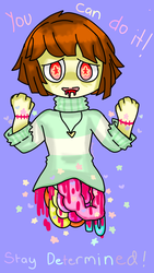 Pastel gore of chara by starmews