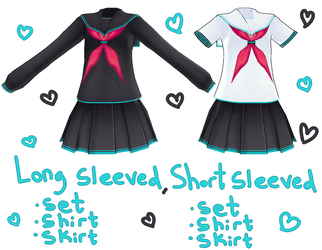 [MMD] Lat School Girl Outfits DL by Tiny-face