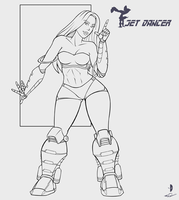 Jet Dancer 2011 - line art by Dualmask