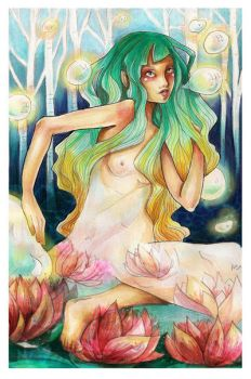 + Water Lily + by A-Xofia
