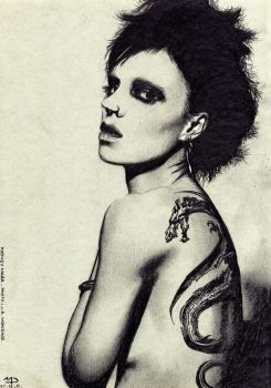 Rooney Mara as Lisbeth Salander by mattdez