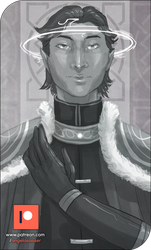 Patreon Sketch - Imperial Prince Mertean by AngelaSasser