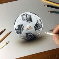 Drawing 2018 FIFA World Cup official ball by marcellobarenghi