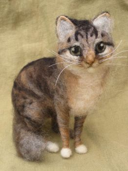 Felted Cat Portrait by HStiLeS