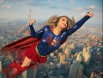 Supergirl over New York by DahriAlGhul