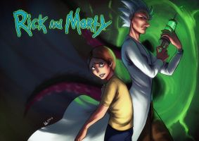 Rick and Morty by Beverii
