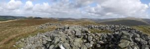 Panorama from the top of Carn Owen in Mid Wales by Oddball210
