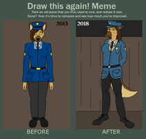 Draw This Again Meme by WolfN85