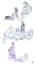 Life Drawing - September 2011 by qiqo
