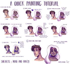 A Quick Painting Tutorial by RosariaBec
