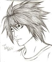 L from Death Note by DragonRiderofRohan