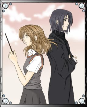 Hermione and Snape by e-m-i