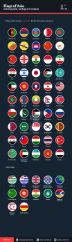 Flags of Asia - Flat Icons by BlinVarfi