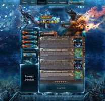 World of Warcraft site ''LichKing.net'' by DattaDesign
