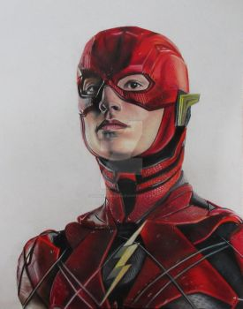 Ezra Miller as Flash by JunkDrawings