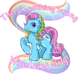 Nothing Wrong with Being Girly (T-shirt Design) by AnScathMarcach