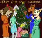 Merry Art Animals Christmas by DungeonWarden