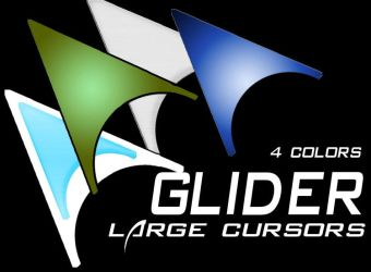 Glider Windows Cursors by manoluv