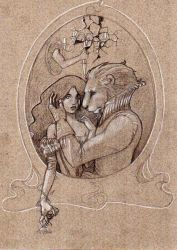 Twisted fairytales - Beauty and the beast by Obsydienn