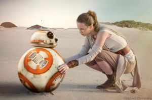 Rey and BB-8 (Star Wars The Force Awakens) cosplay by greglarro