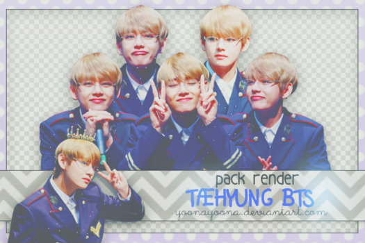 [PACK PNG #13] TAEHYUNG (V) BTS by Yoonayoona