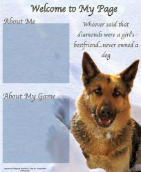 German Shepherd layout by Reigning-Graphics