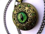 Dragon Pocket Watch - Regal - Forest Flame by LadyPirotessa