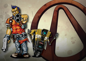 Borderlands 2 Commission by HarlandGirl
