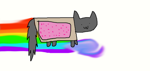 Nyan cat by Slushycat1212