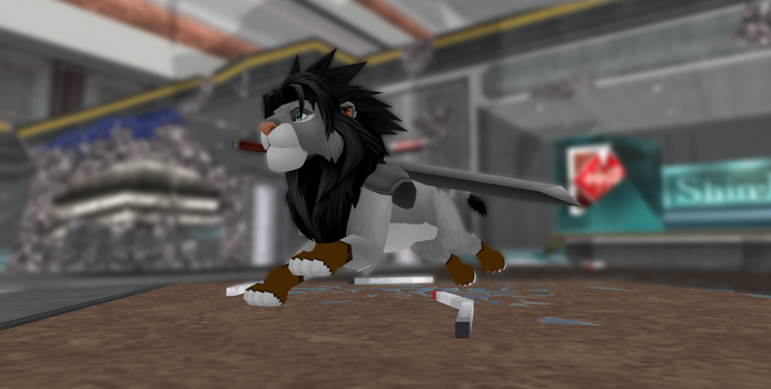 MMD Newcomer Lion Form Zack + DL by Valforwing