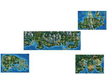 Pokemon Maps Done to the Style of Black and White by AtomicSaturnwizard