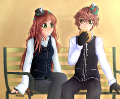Couple [Comision] by Kaihaii