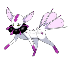Poison Eevee Evolution by HallowDew