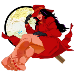 Ladies of Saturday Morning - Carmen Sandiego by scamwich