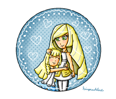Mom and daughter hug by ninpeachlover