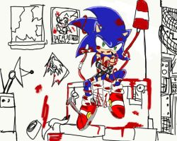 sonic blood... by Geena-the-Hedgehog