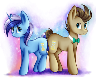 Doctor Whooves and Minuette by Jay-Shep