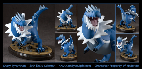 Commission : Shiny Tyrantrum by emilySculpts