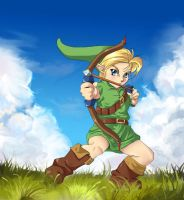 Young Link: Bow and Arrow by EponaN64