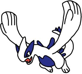 Lugia Pokemon BW Sprite by GEORDINHO