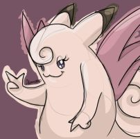 Clefable by skeletall