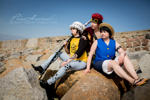 Three Captains | Kid, Law, Luffy III by PirateHeartbeat