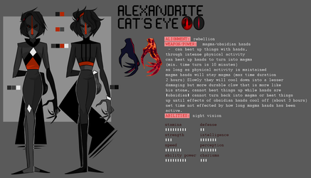 Alexandrite Cat's Eye | Gemsona Reference Sheet by KitsuneZakuro
