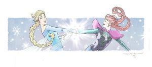 Elsa and Anna by ezy-e