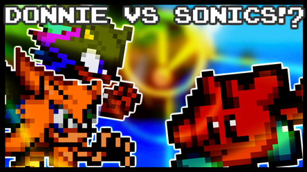 Donnie uses anime powers to beat up Sonic fc by Mespaint