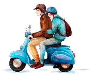 XMFC: Moped by arisupaints
