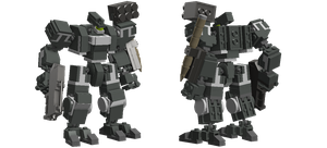 Bipedal Front Mission-type mecha Version 1 by TheMugbearer