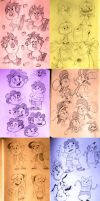 Cartoon Doodles by DisneyGirl52