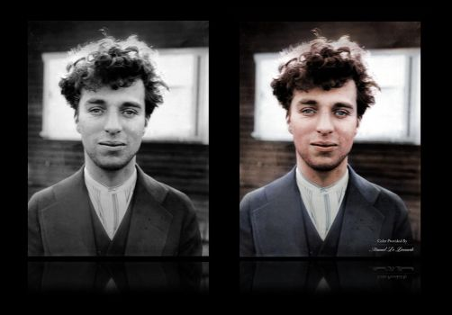 Charlie Chaplin, 1916 at the age of 27 |Colorized by JohnnyMex